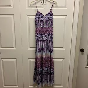 Parker purple/pink adjustable strap gown dress